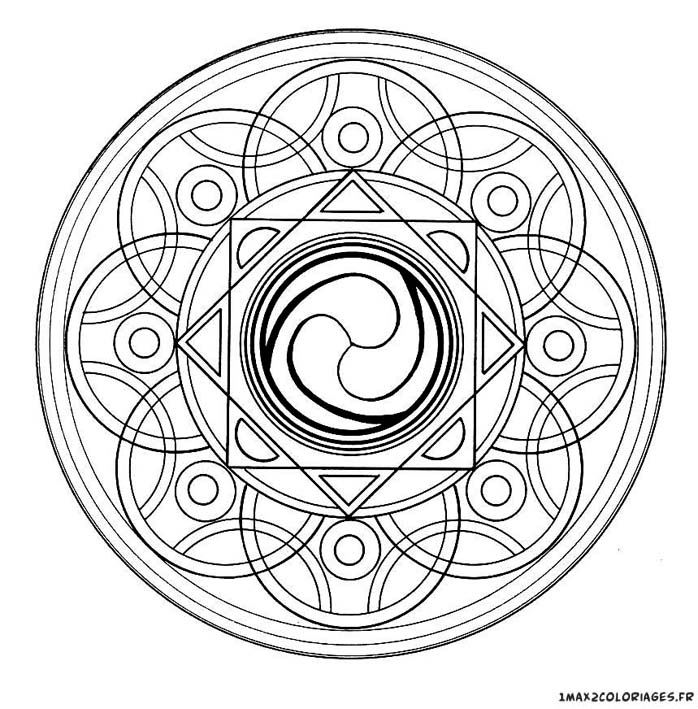 Coloriage Mandalas Mandala Circulaire Imprimer