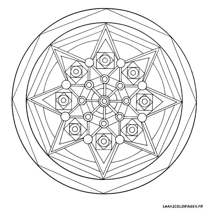 Coloriage Etoile Mandala.Coloriage De Mandalas Mandala Etoile A Imprimer