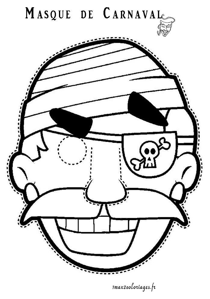 Coloriages masques de carnaval masque de pirate pour - Dessin de masque de carnaval ...