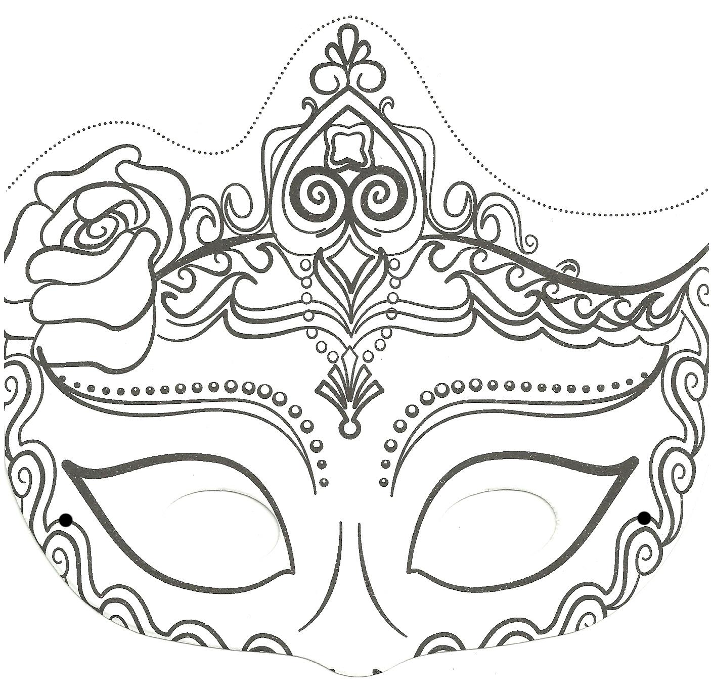 masque pour enfant une belle princesse à imprimer et à colorier a