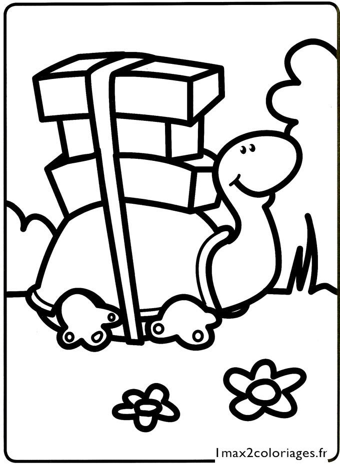 Mes premiers coloriages la petite tortue a imprimer - Mes coloriages a imprimer ...