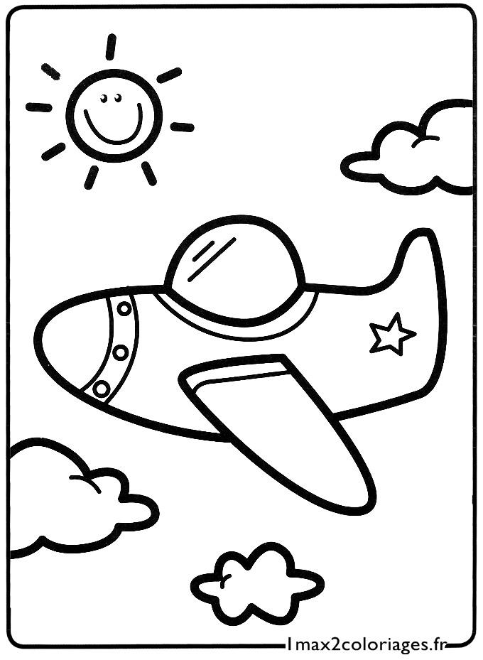 Mes premiers Coloriages - le petit avion dans les nuages a ...