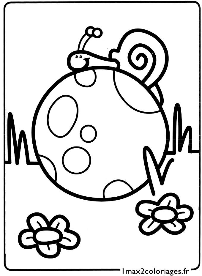 Mes premiers coloriages le petit escargot sur le ballon a imprimer - Mes coloriages a imprimer ...
