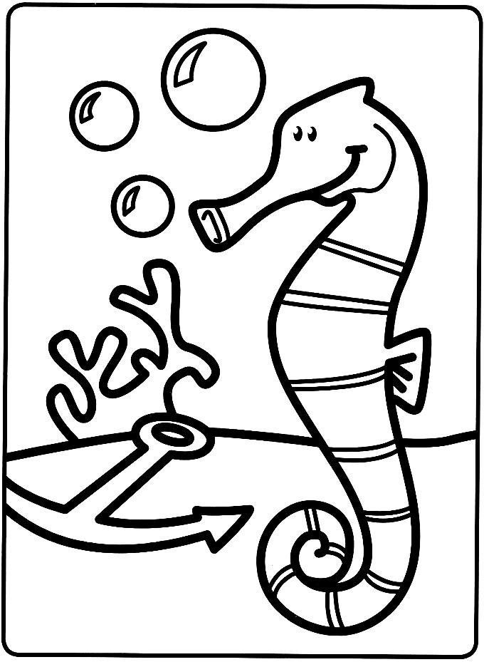 Mes premiers coloriages le petit hippocampe a imprimer - Mes coloriages a imprimer ...