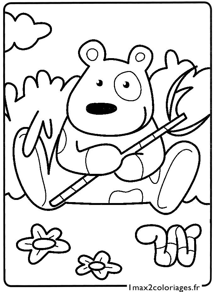 Mes premiers coloriages le petit panda a imprimer - Coloriage petit panda ...