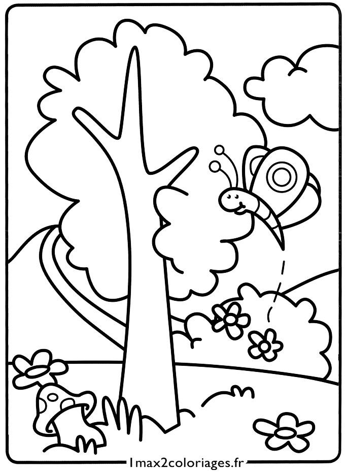 Mes premiers coloriages le petit papillon a imprimer - Dessin petit papillon ...