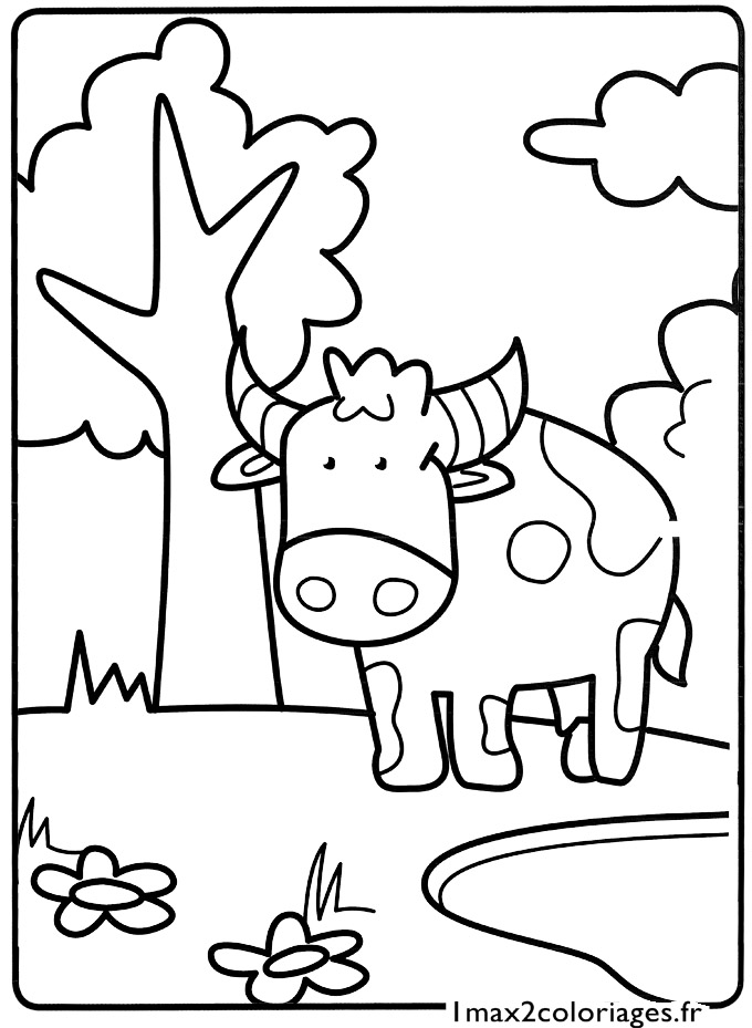 Mes premiers coloriages le petit taureau a imprimer - Mes coloriages a imprimer ...