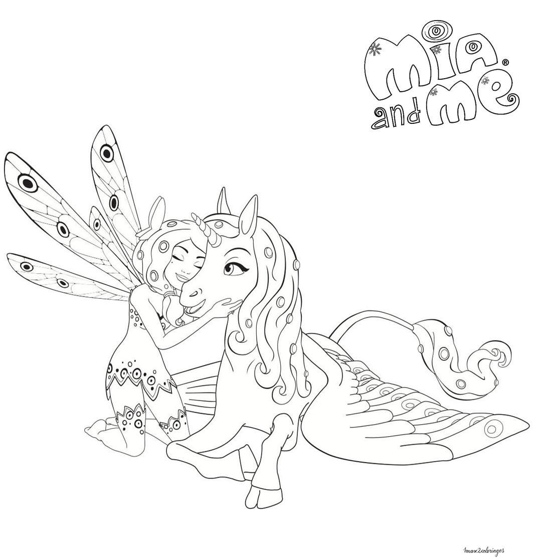 Coloriage de mia et onchao personnage de la serie mia et moi - Coloriage de mia et moi ...