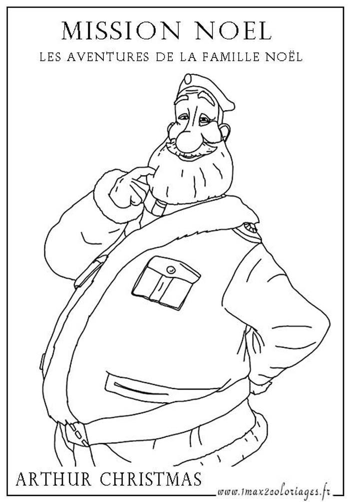 Coloriage Mission Noel: les aventures de la famille Noel   Père Noël