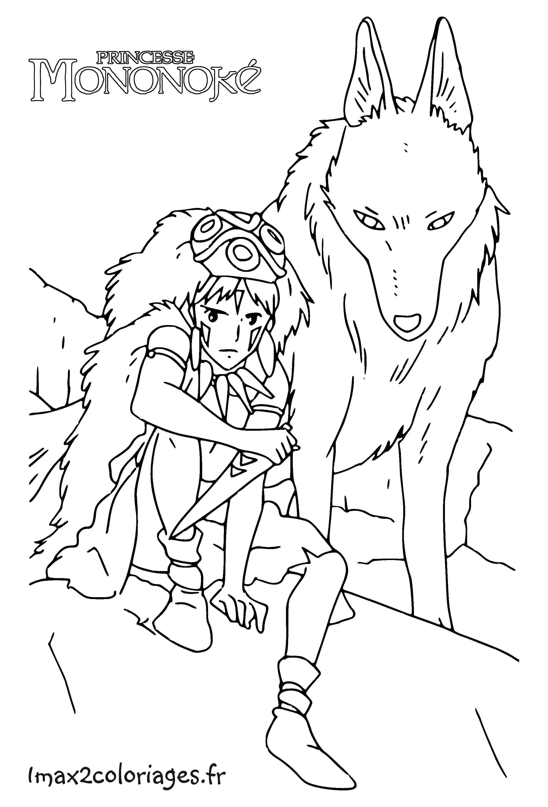 Coloriages des films miyasaki des studios ghibli for Kiki s delivery service coloring pages