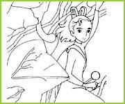 coloriages des films de hayao miyazaki. Black Bedroom Furniture Sets. Home Design Ideas