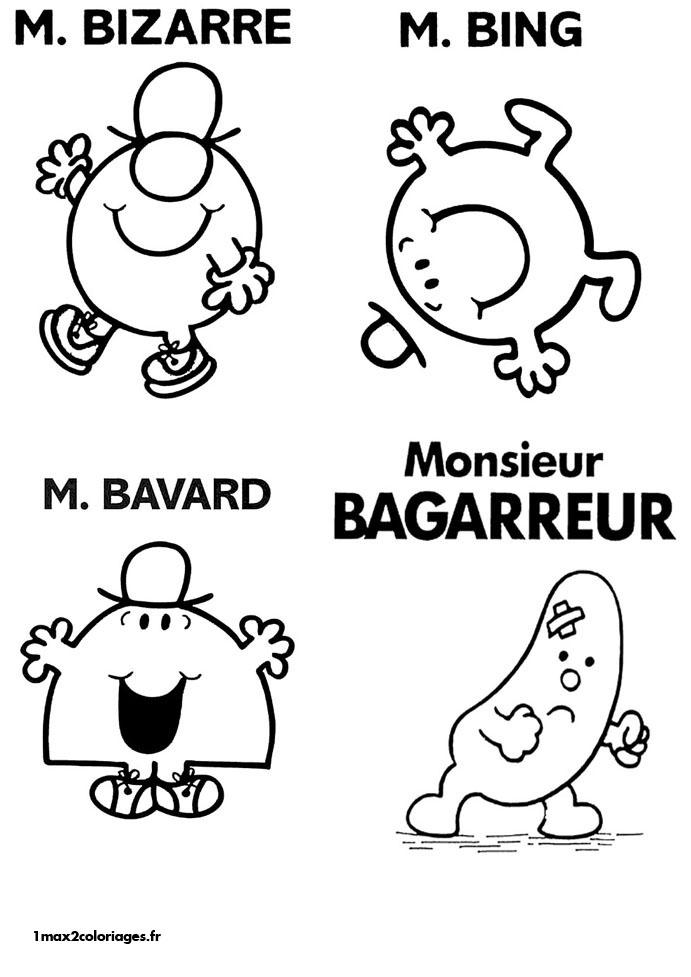 Coloriages monsieur madame de Roger Hargreaves - M.Bizarre ...