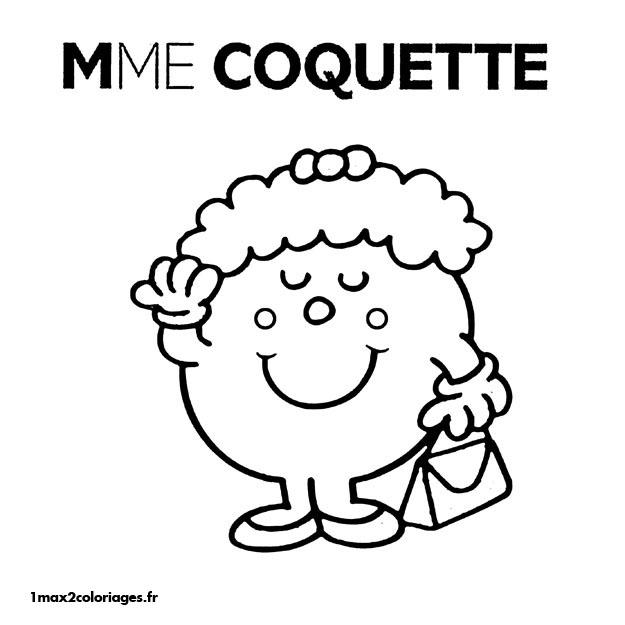 Coloriages monsieur madame a imprimer et a colorier - Madame coquette ...