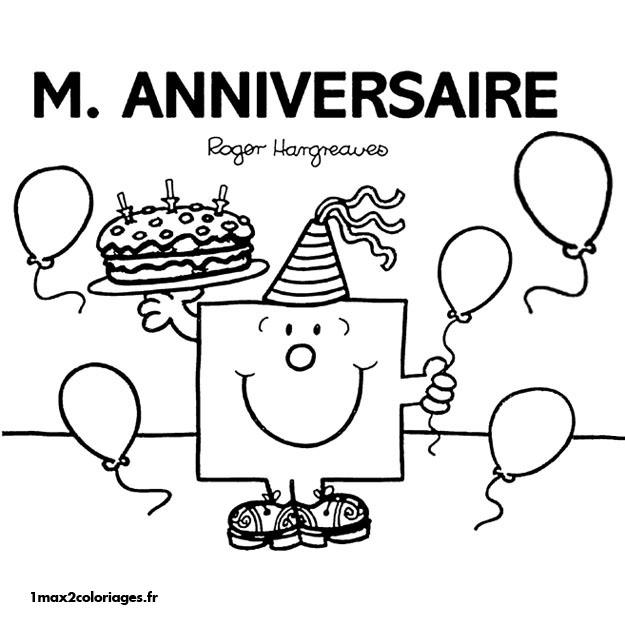 Coloriages monsieur madame a imprimer et a colorier - Dessin a imprimer anniversaire ...