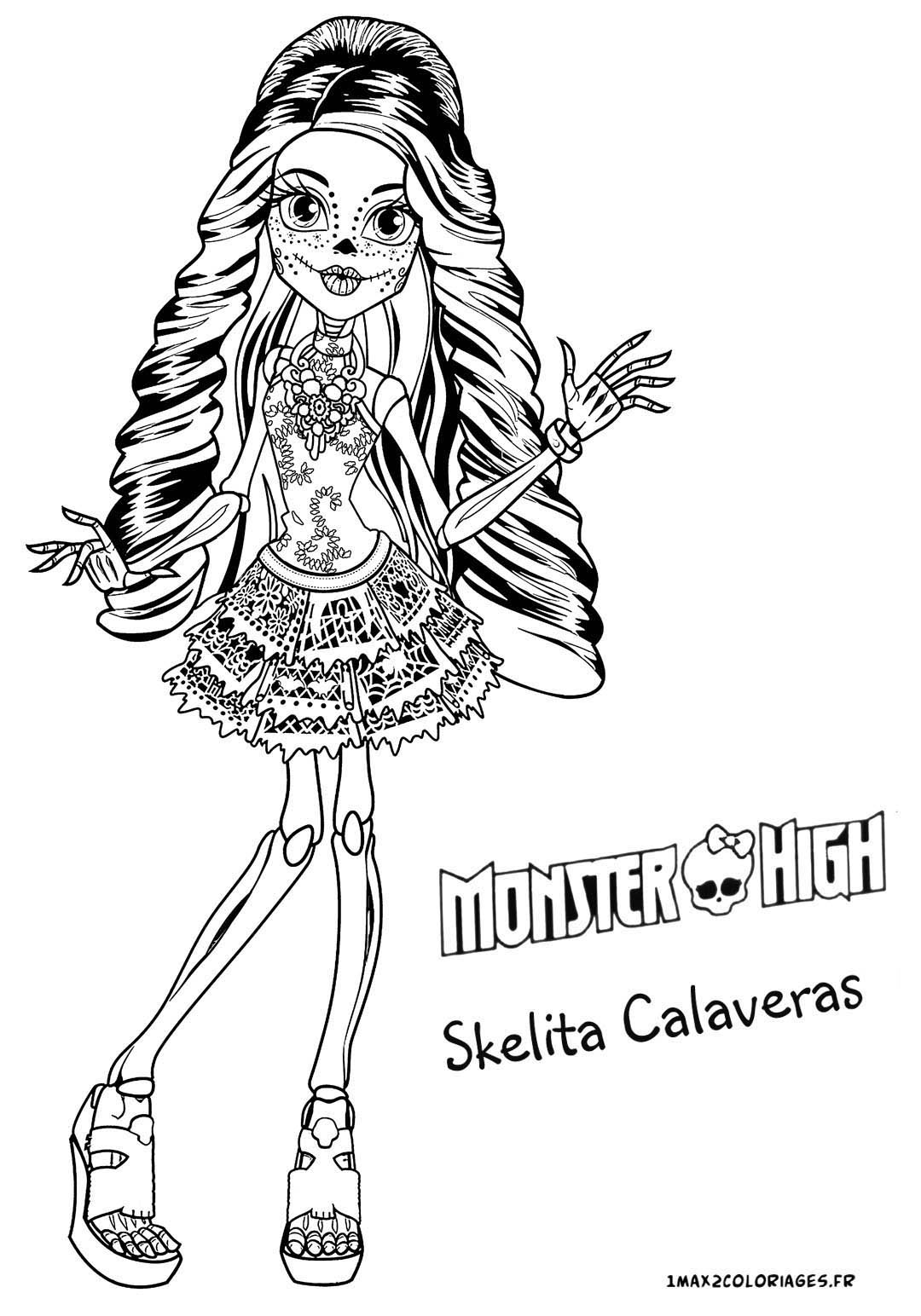 Baby Scleta Calaveres Monster High - Free Coloring Pages