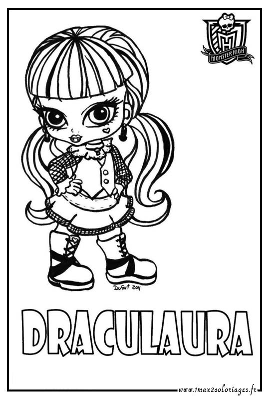 Coloriage des personnages de monster high baby - Coloriage monster high baby ...