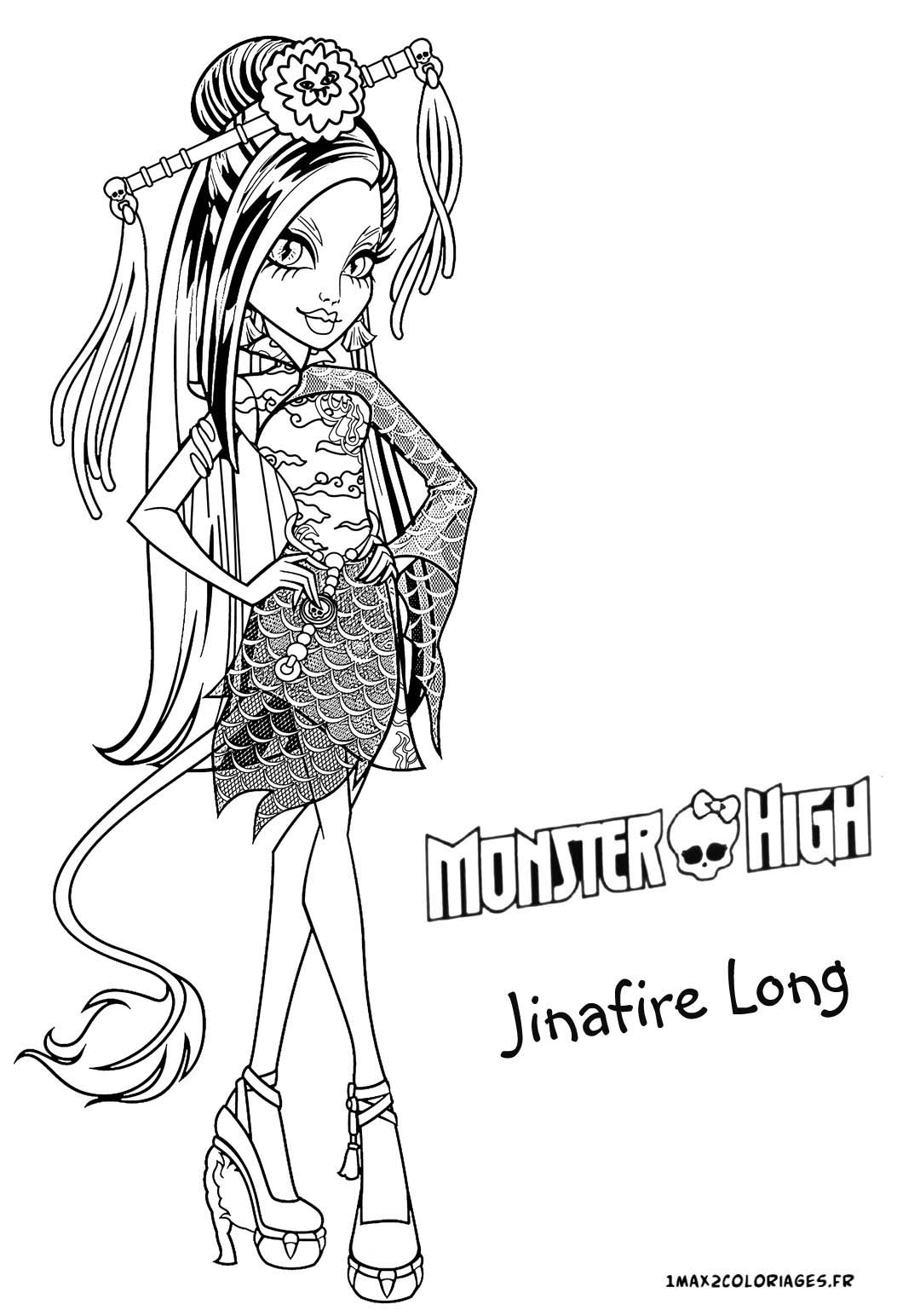 Gallery For gt Monster High Jinafire Long Coloring Pages