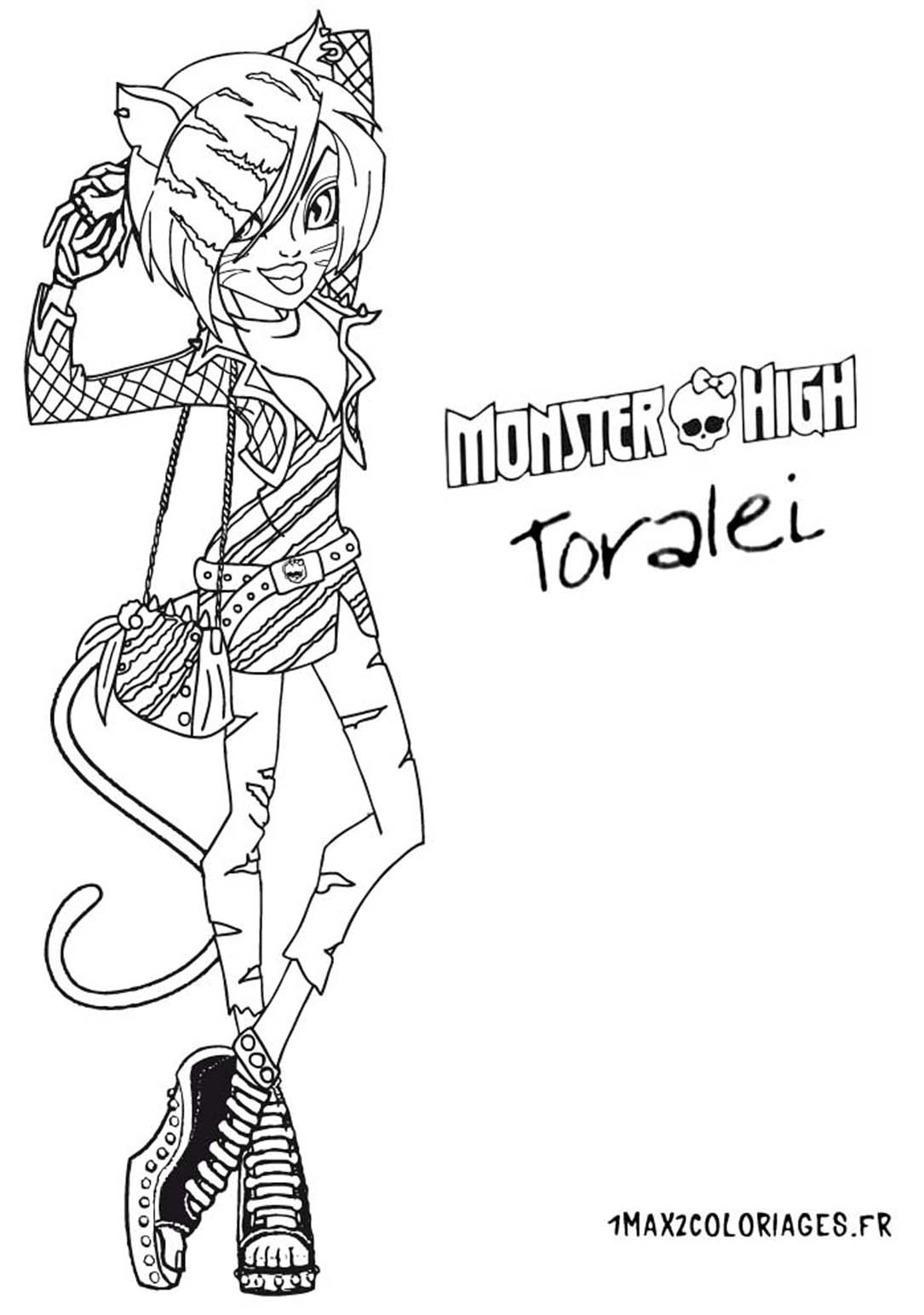 Toralei Monster High Baby Colouring Pages Page 3