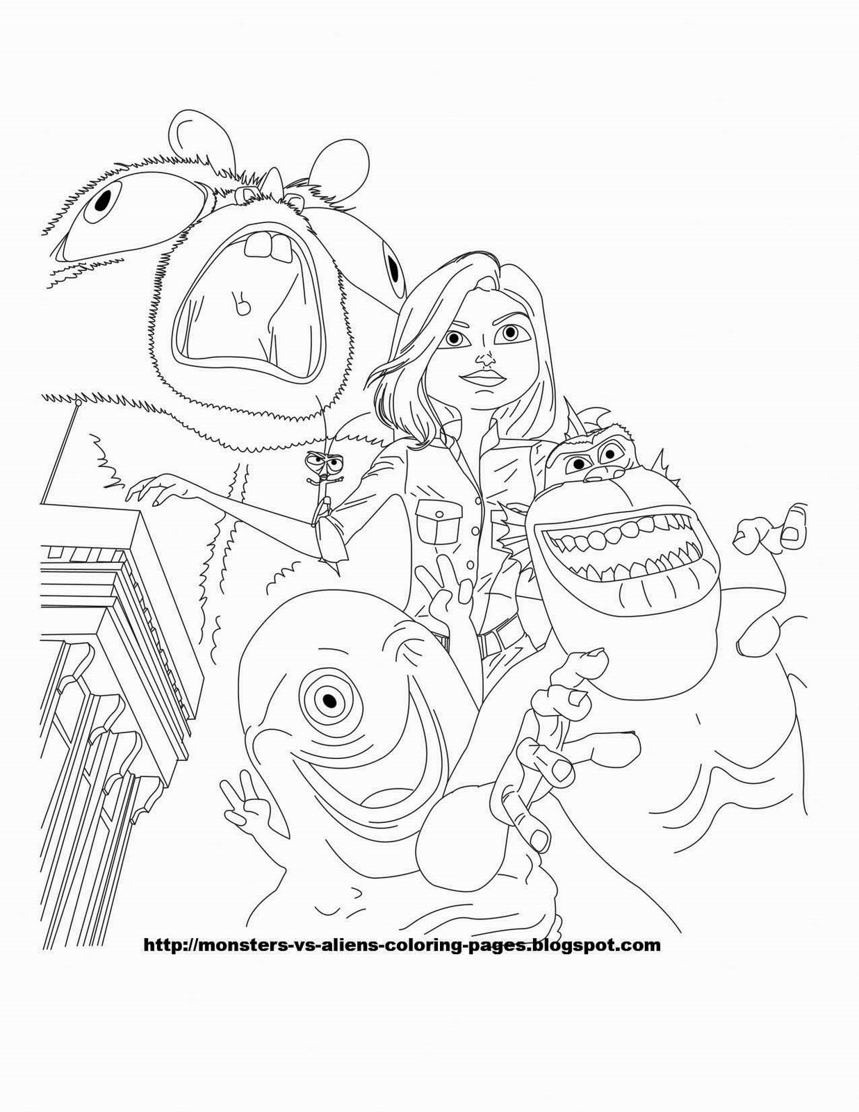 ginormica coloring pages - photo#15