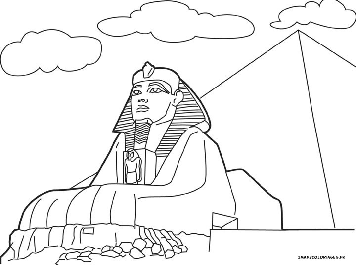 egyptian sphinx coloring pages - photo#4