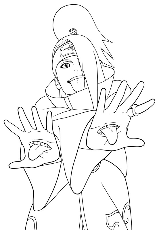 Coloriages Du Manga Et Dessin Anime Naruto