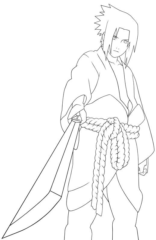 Coloriages du manga et dessin anim naruto - Dessin de naruto akkipuden ...