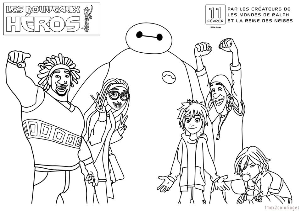 Free Coloring Pages Of Gogo Les Nouveaux Heros