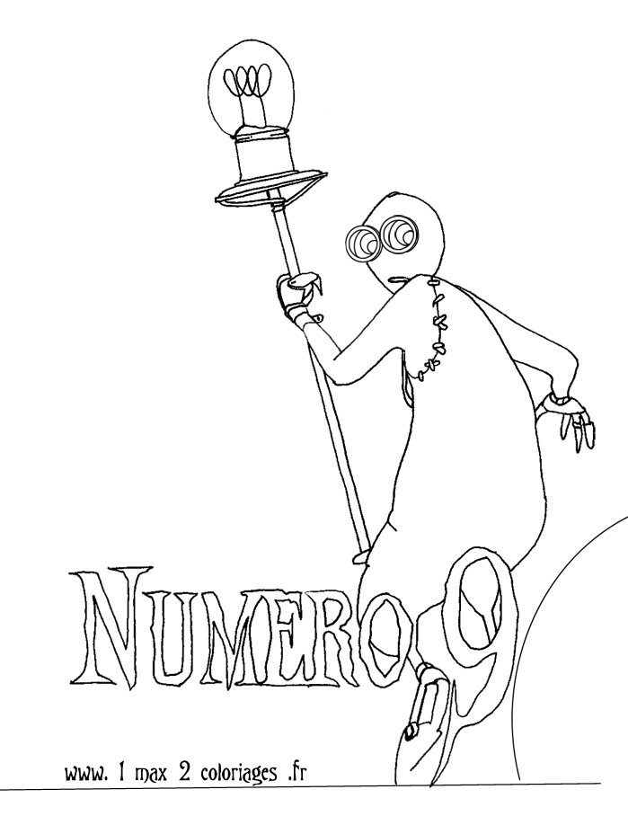 Coloriages Numero 9 Le Film De Tim Burton