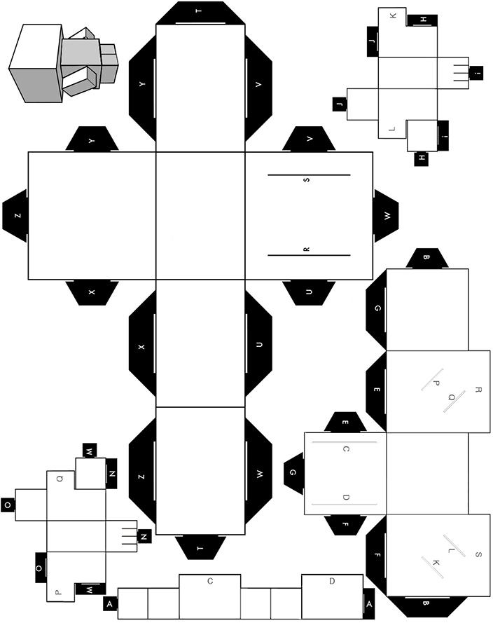 Block en papier imprimer decouper coller et monter for Maison en papier a construire