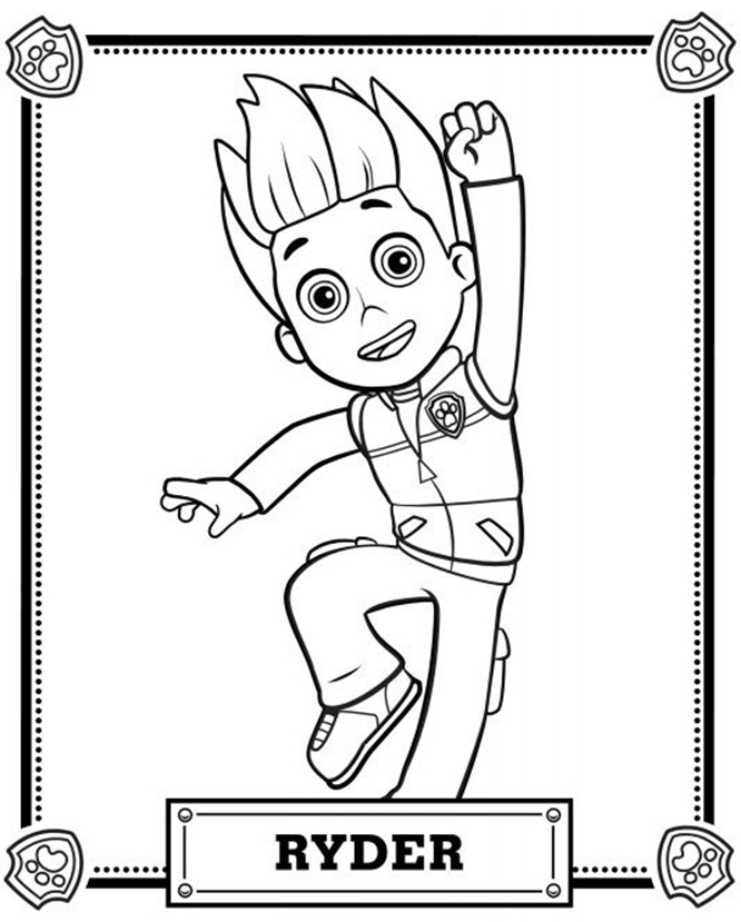 Paw patrol ryder coloring pages coloring pages - Pat patrouille coloriage ...