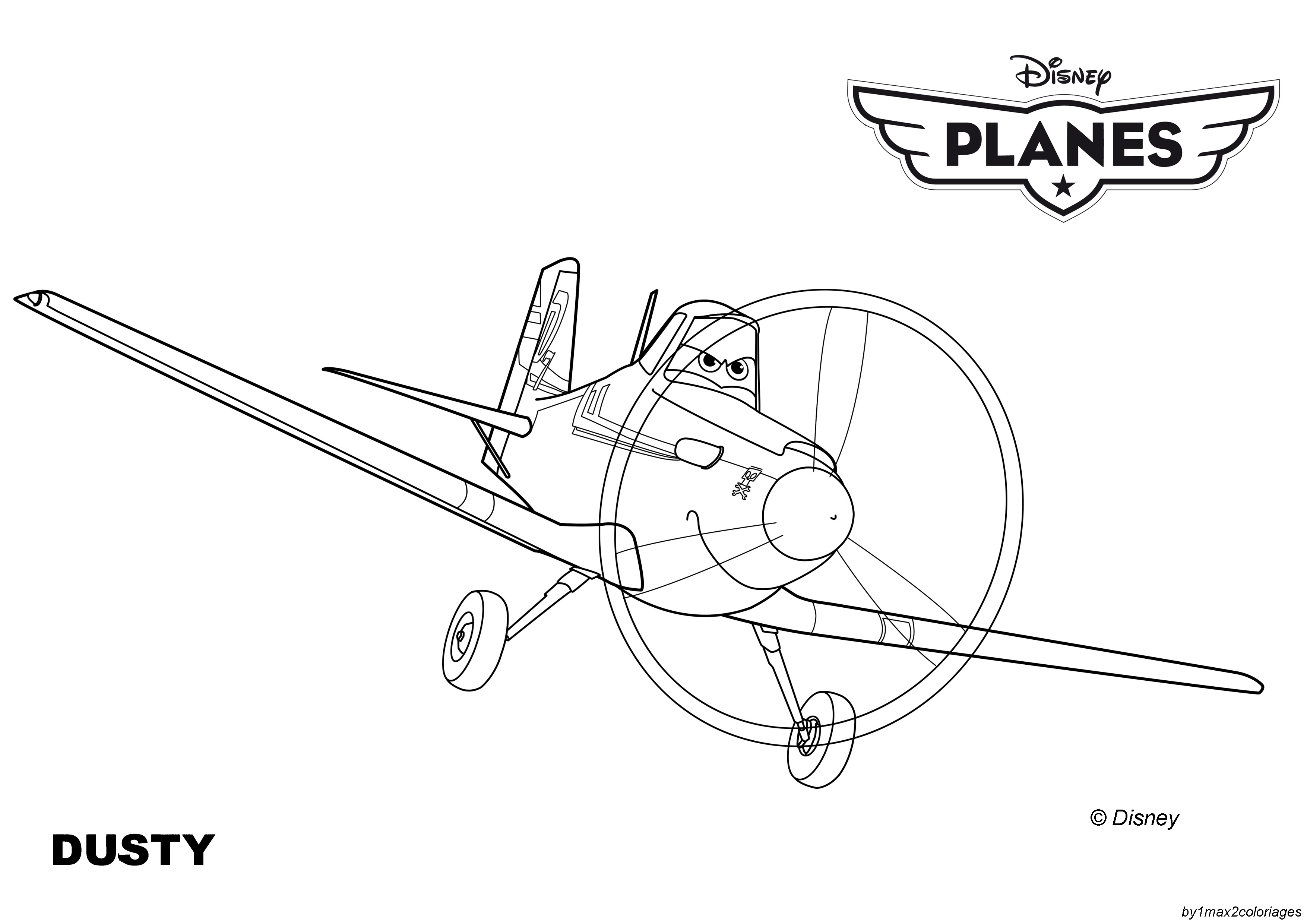 Dusty crop duster coloring pages