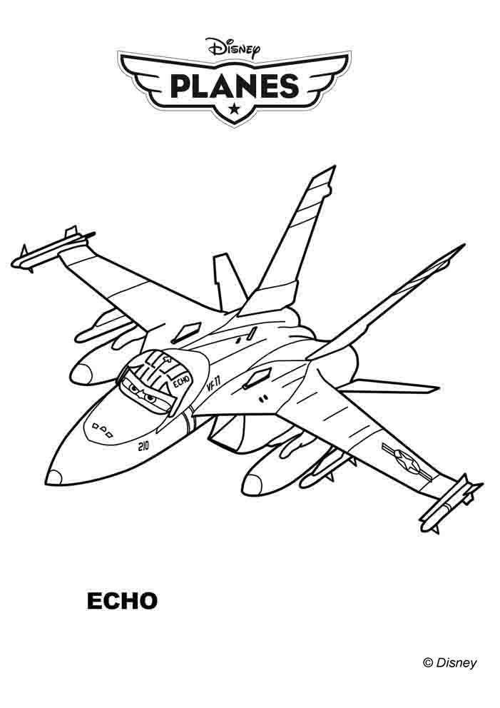 Disney Planes Echo Coloring Page