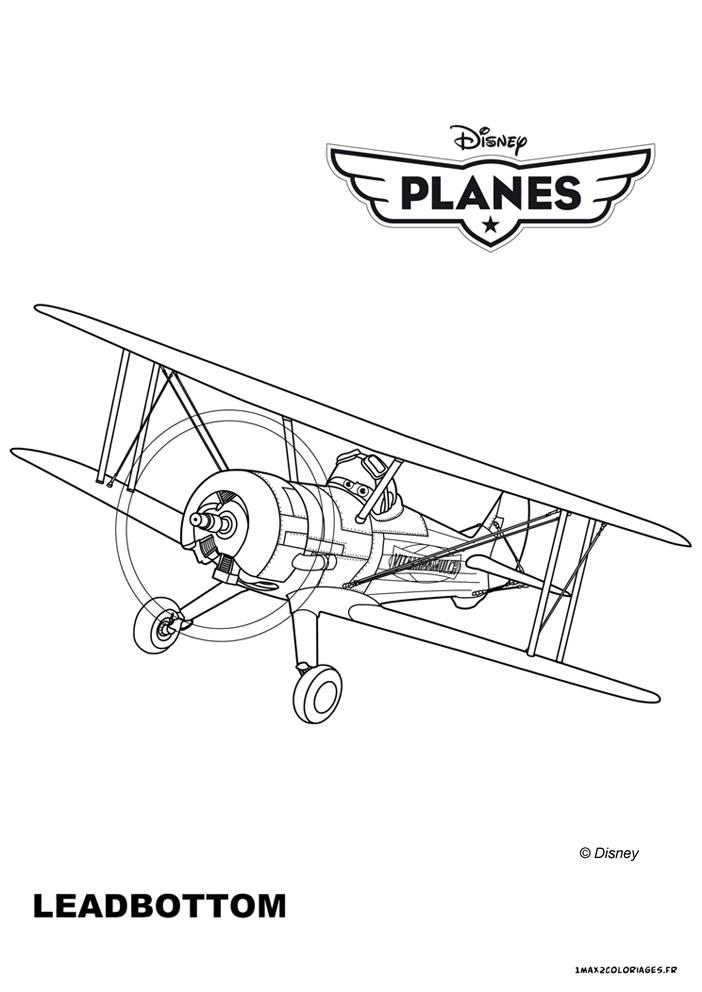 Coloriages planes de walt disney leadbottom un vieux biplan a imprimer - Planes coloriage ...