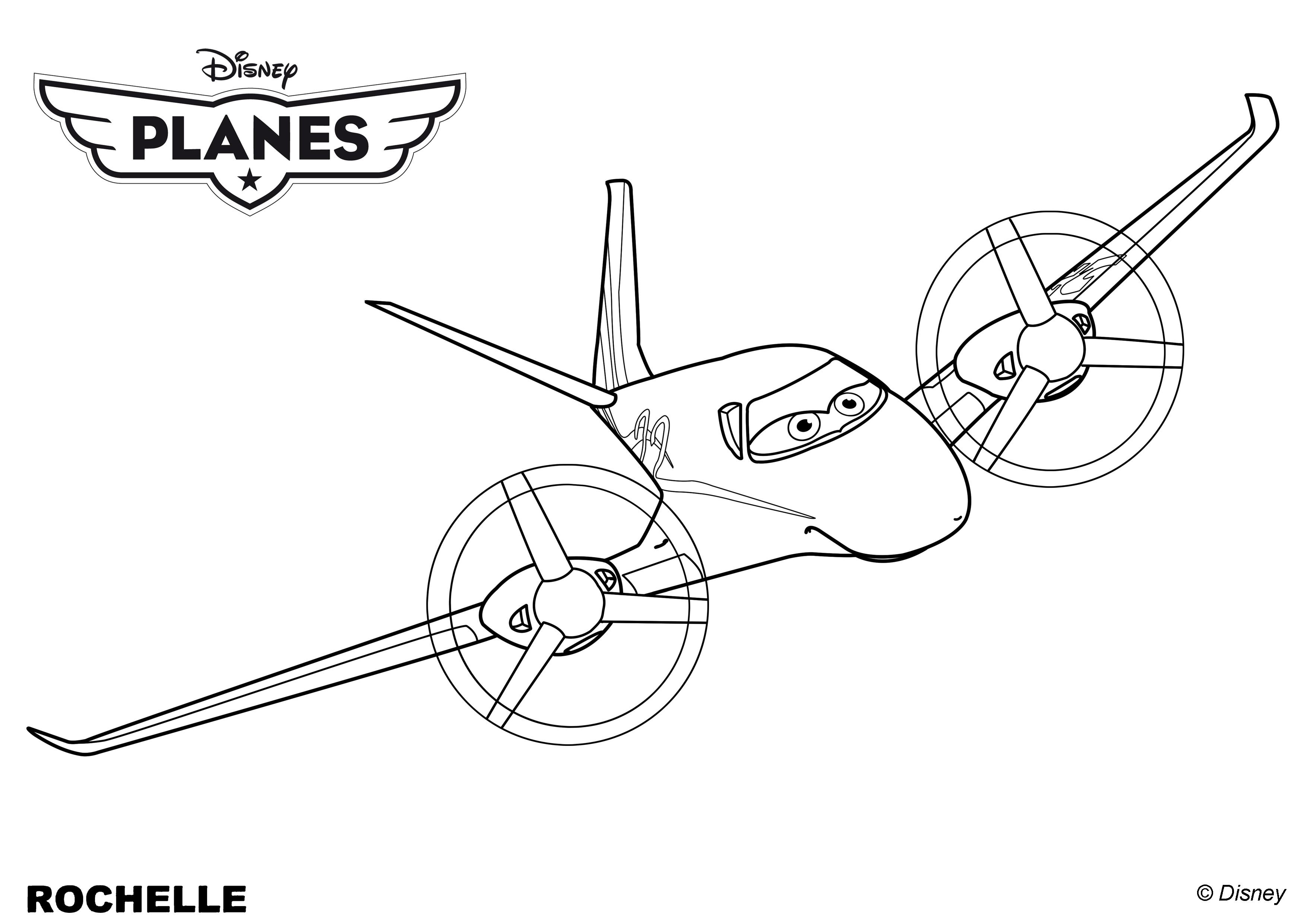 Coloriages Planes de walt Disney,l'avion québécois ...