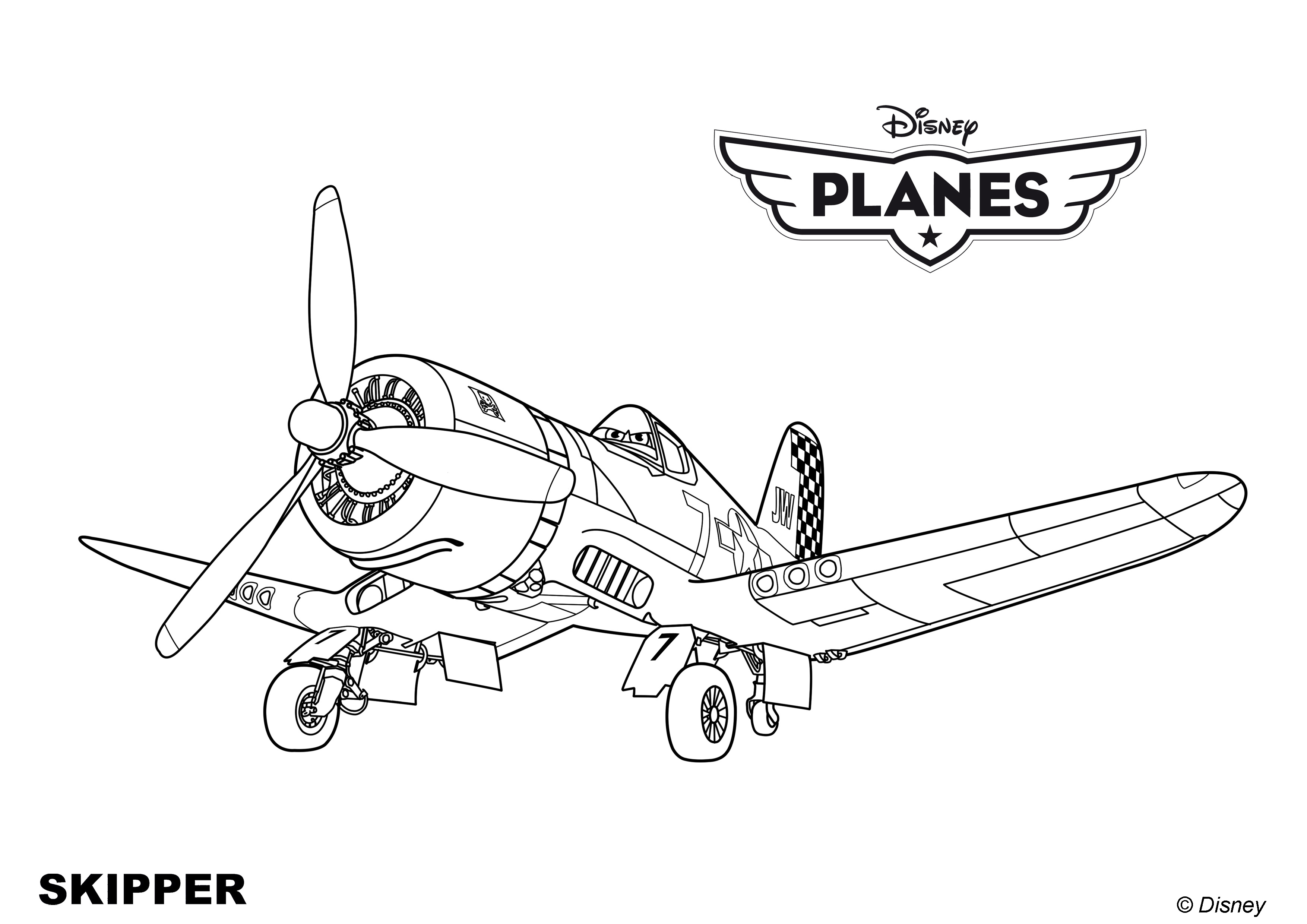 big planes coloring pages - photo#28