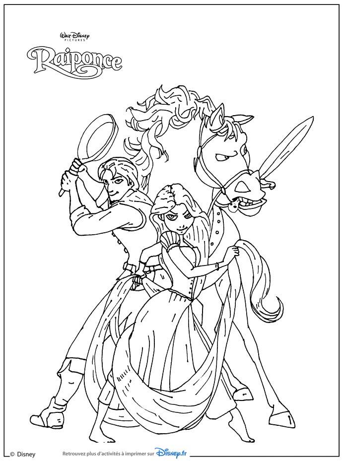 Coloriage Raiponce Flynn Et Maximus Coloriages Rapunzel