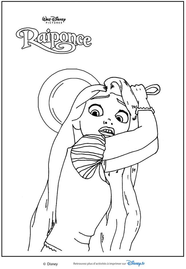 Les coloriages des princesses de walt disney a imprimer et - Dessin a imprimer raiponce ...