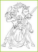 Coloriages raiponce de walt disney a imprimer gratuitement - Raiponce et flynn rider ...