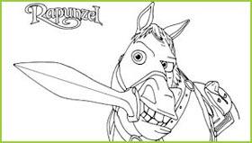 Coloriages raiponce de walt disney a imprimer gratuitement - Maximus cheval raiponce ...