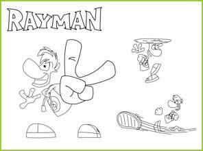 Coloriages Rayman Legend et Rayman origin