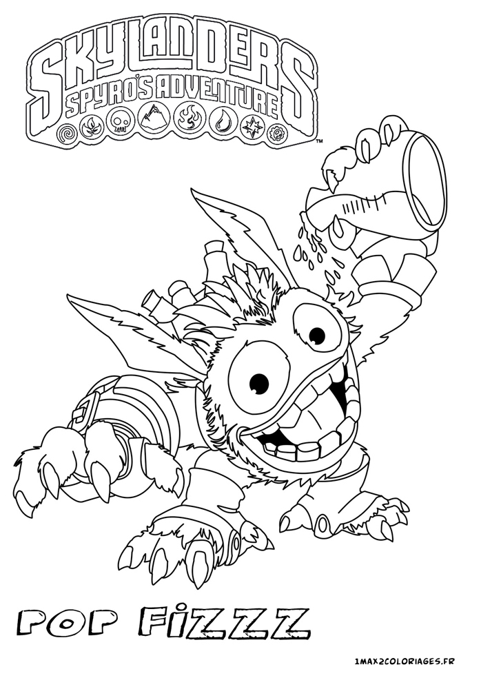 free coloring pages of magie skylanders