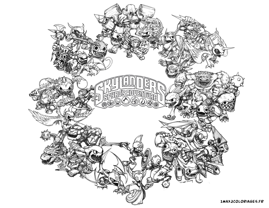 skylanders coloring pages ignitor pertronix - photo#11