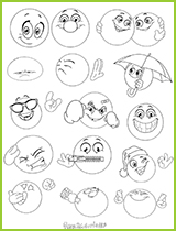 Coloriage de smiley excellent dessin smiley content - Coloriage de smiley ...