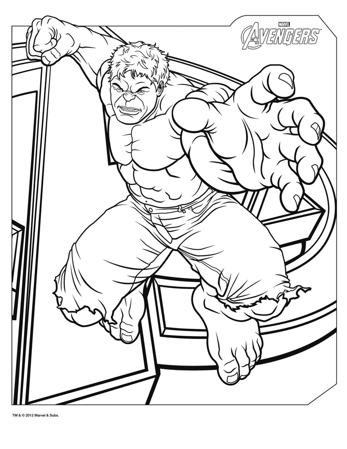 Coloriages the avengers le film dessin de hulk en grand - Coloriage avengers 2 ...