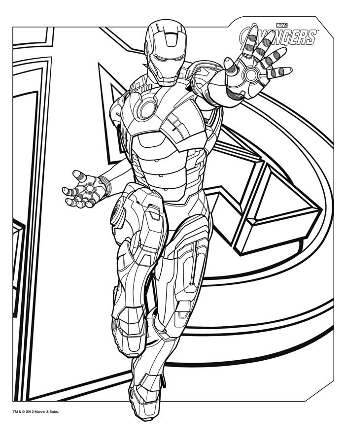 Coloriages the avengers le film super dessin de iron man - Coloriage avengers 2 ...