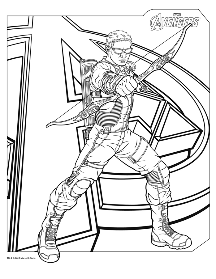 Avengers Symbol Coloring Pages : Free coloring pages of hawkeye symbol