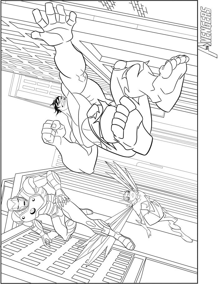 Coloriages the avengers hulk et iron man - Coloriage avengers 2 ...