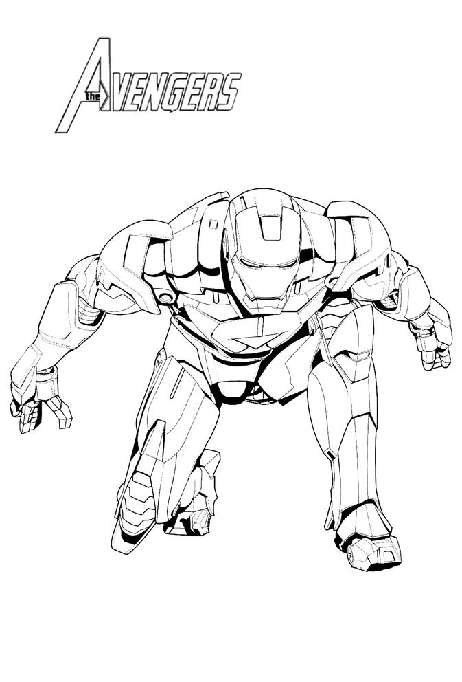 Coloriages The Avengers Dessin De Iron Man Pret A Foncer A Imprimer
