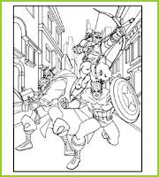 Thor Oeil de Faucon et Capt America