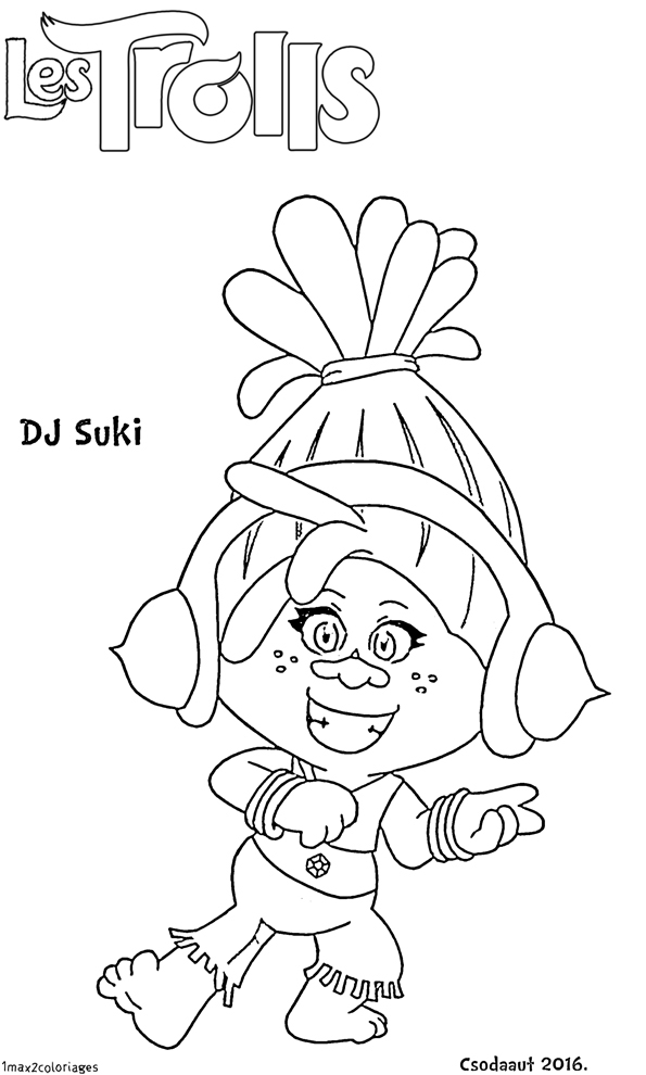 Trolls Coloring Pages Branch Guy Diamond